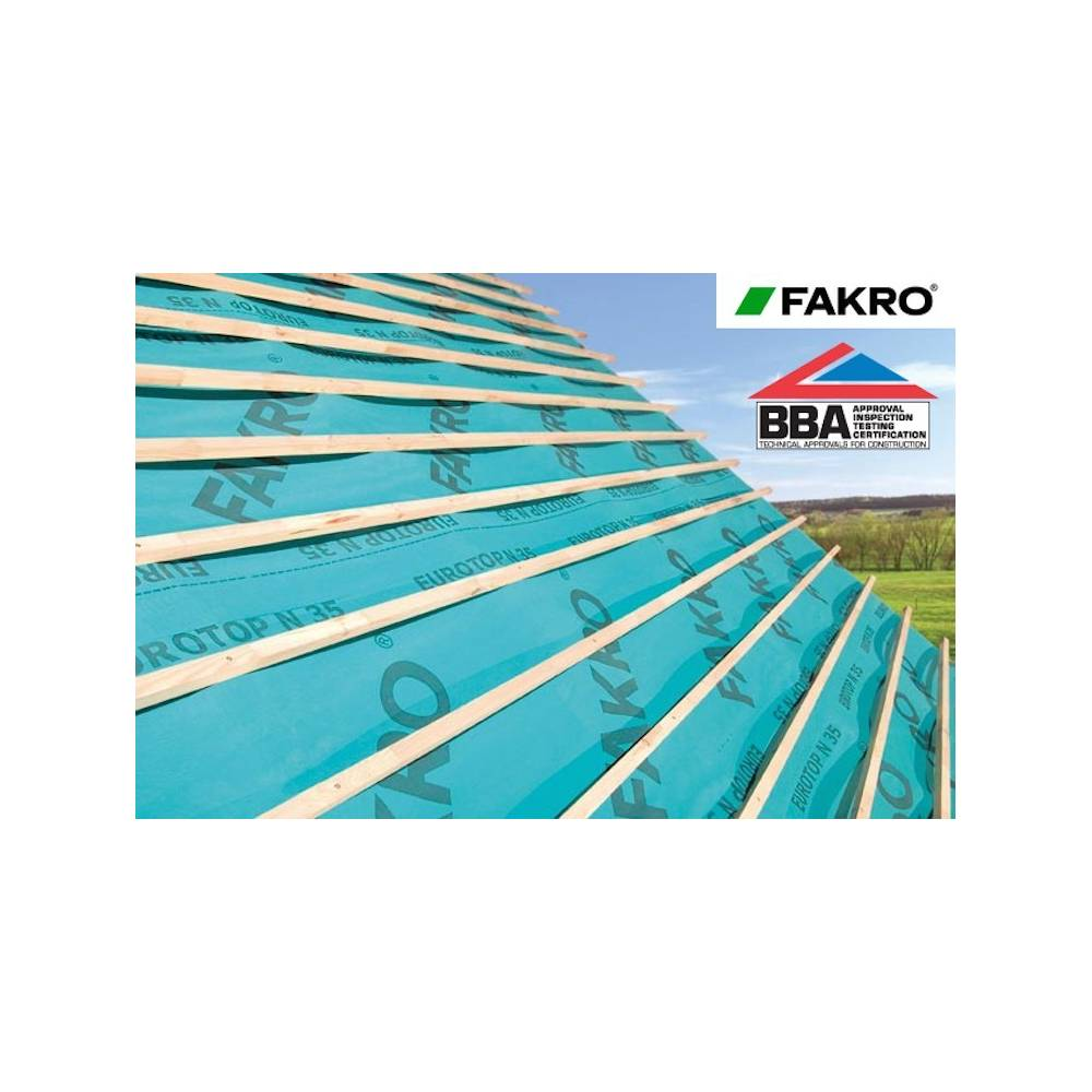 Fakro Eurotop N35 Breathable Roof Membrane 50m X 1 5m 75