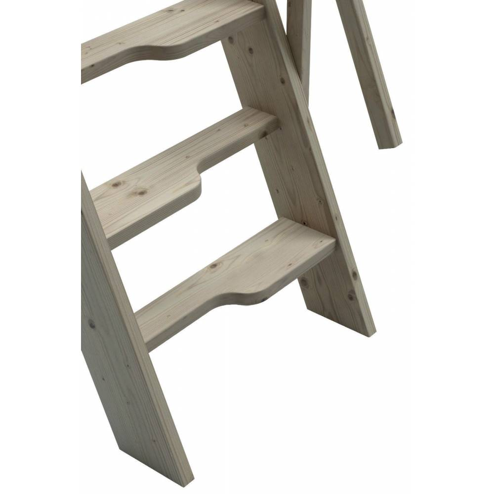 ... Steep Hill 60 Wooden Staircase Kit Loft Stairs/ladder W 60 Cm Profiled  Paddle Steps ...