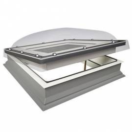 Fakro DMC 100cm x 100cm Manual Flat Roof Window & Kerb Double Glazed + Dome