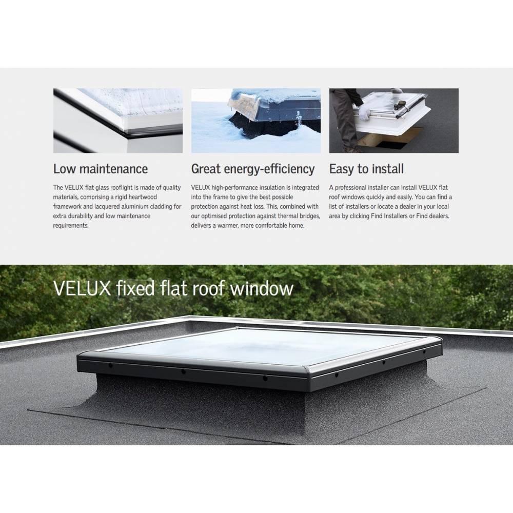 Velux Cfp 060060 Fixed Flat Glass Roof Window 60cm X 60cm