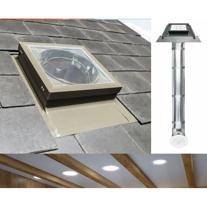 "Fakro SRL Light Tunnel 10"" 250mm with Rigid Tube for Slate Roof"