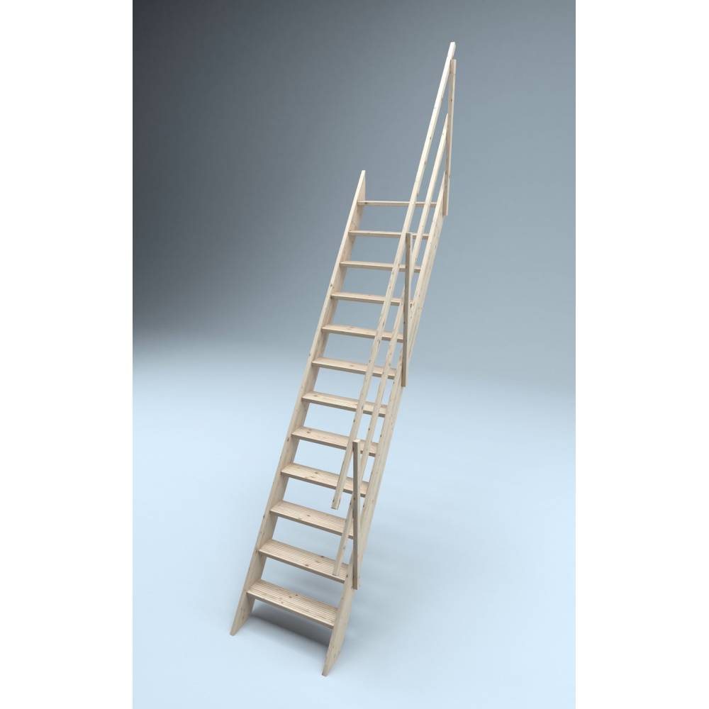 ... Oxford 60 Wooden Staircase Loft Stairs/Ladder 60 Cm Width ...