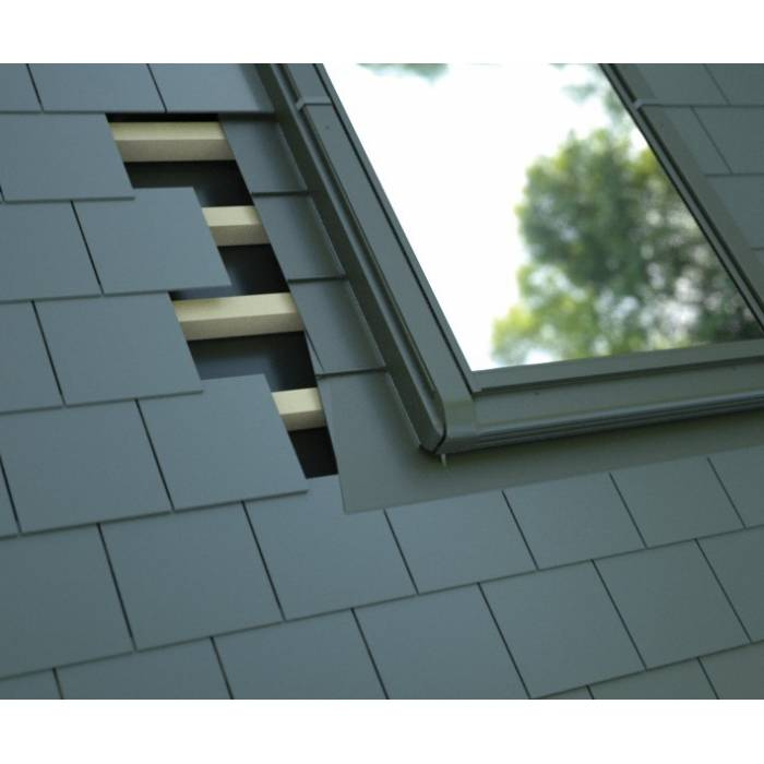 SLATE Flashing Kit 47cm x 98cm for Sunlux model OK, OKE, OKW, OKEW