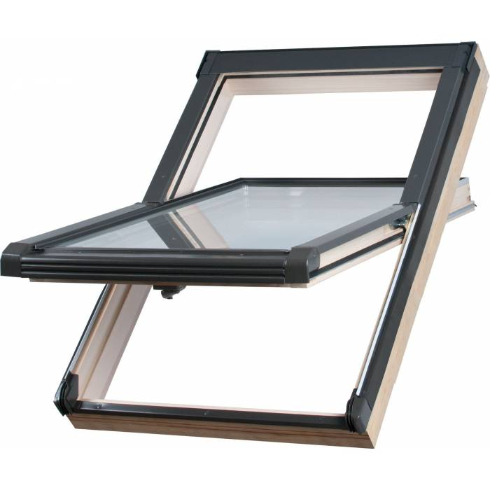 Sunlux Timber 47cm x 98cm Centre Pivot Roof Window