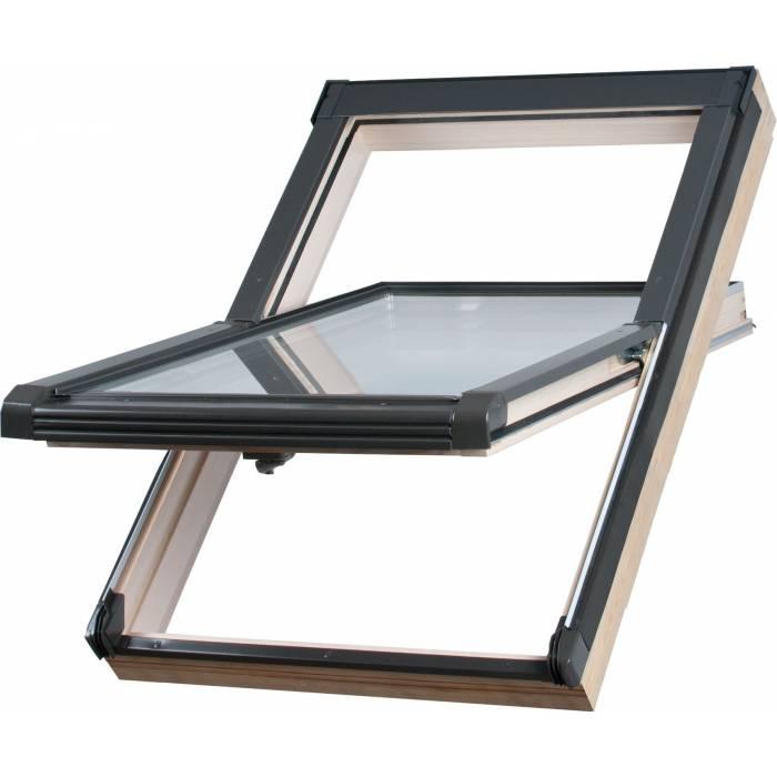 Sunlux Timber 78cm x 140cm Centre Pivot Roof Window