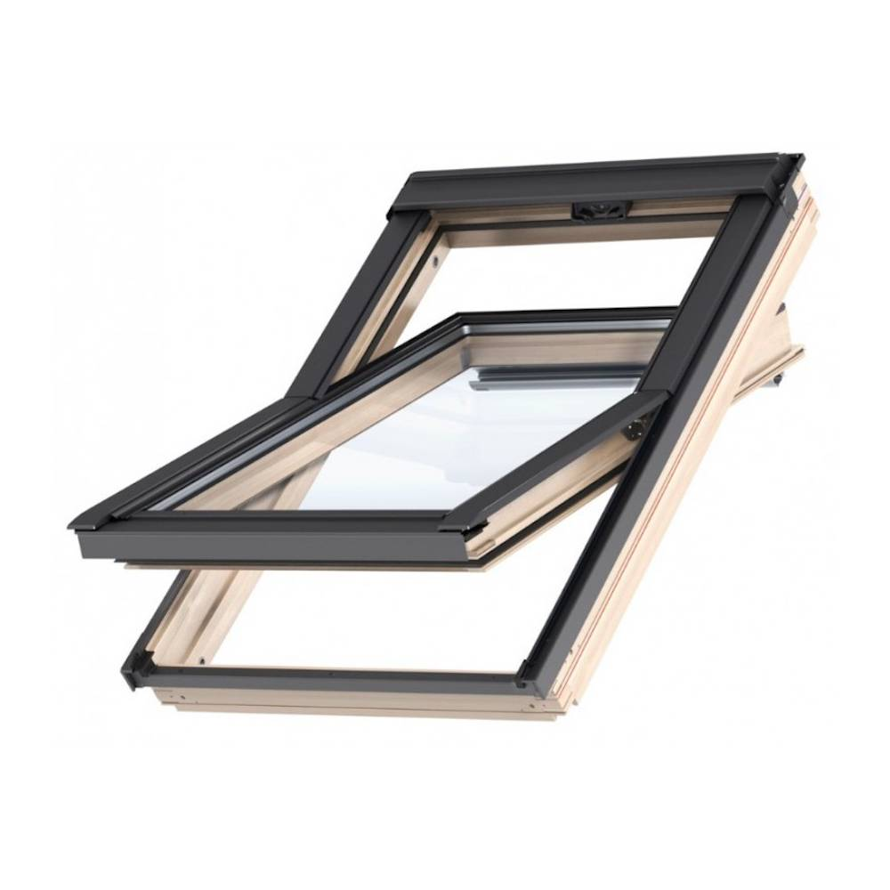 Velux Gzl 55 X 78cm Pine Centre Pivot Roof Window Ck02