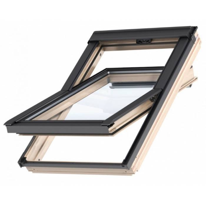 Velux gzl 78 x 98cm pine centre pivot roof window mk04 for Velux glass