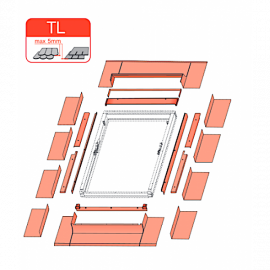 Slate Flashing TL 55 x 98cm for Optilight