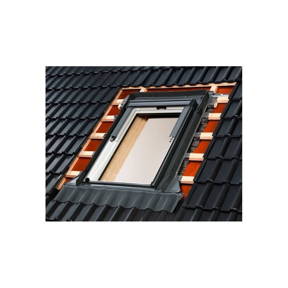 velux edw mk04 single deep profile tile flashing 78cm x 98cm sunlux. Black Bedroom Furniture Sets. Home Design Ideas