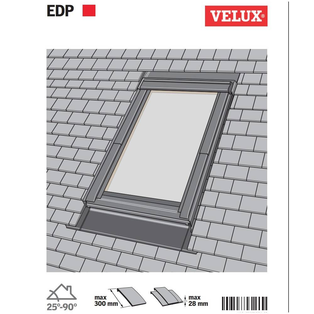 Velux Reference tout velux edp mk06 single plain tile flashing 78cm x 118cm - sunlux