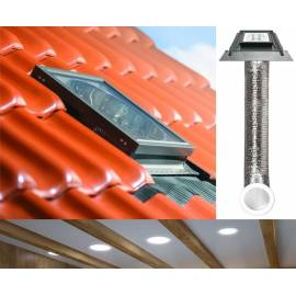 "Fakro SFZ Light Tunnel 22"" 550mm with Flexible Tube for Tile Roof"