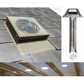 "Fakro SFL Light Tunnel 22"" 550mm with Flexible Tube for Slate Roof"