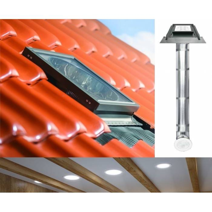 "Fakro SRZ Light Tunnel 10"" 250mm with Rigid Tube for Tile Roof"