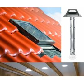 "Fakro SRZ Light Tunnel 14"" 350mm with Rigid Tube for Tile Roof"