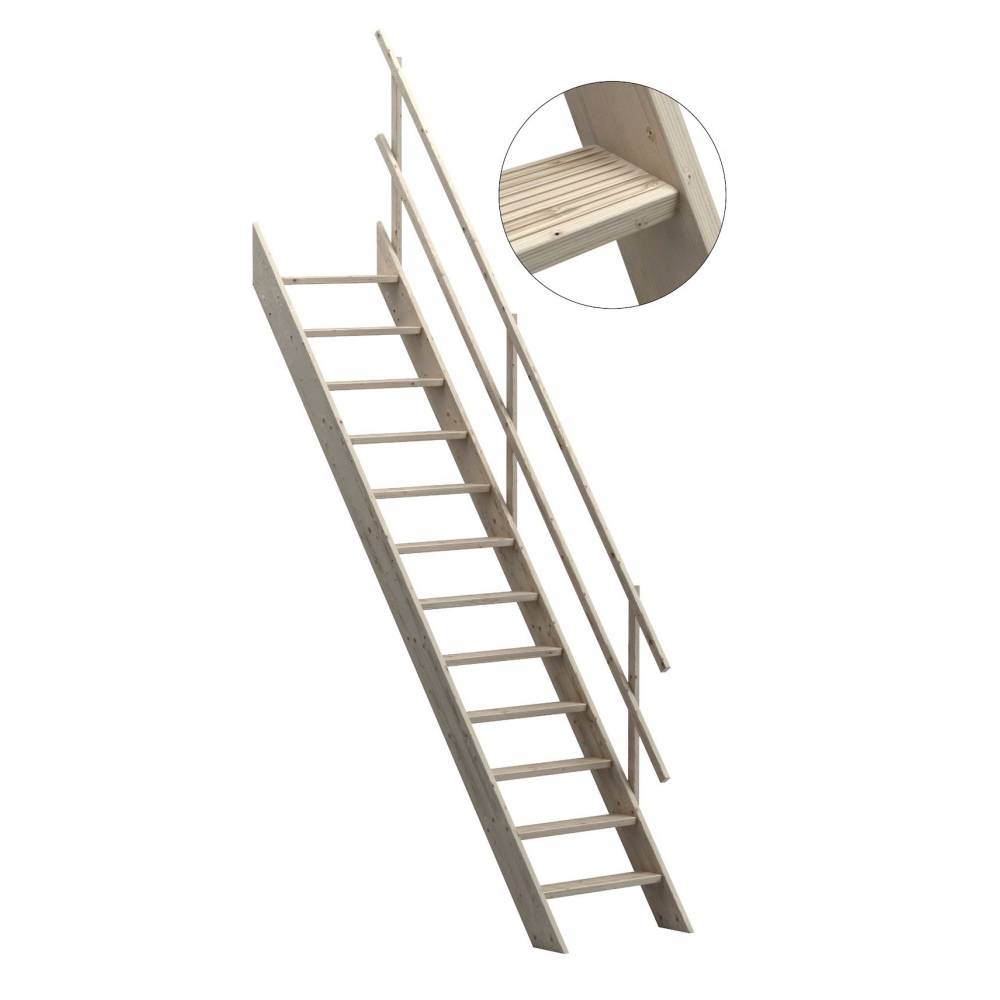 Oxford 70 Wooden Staircase Loft Stairs/Ladder 70 Cm Width ...