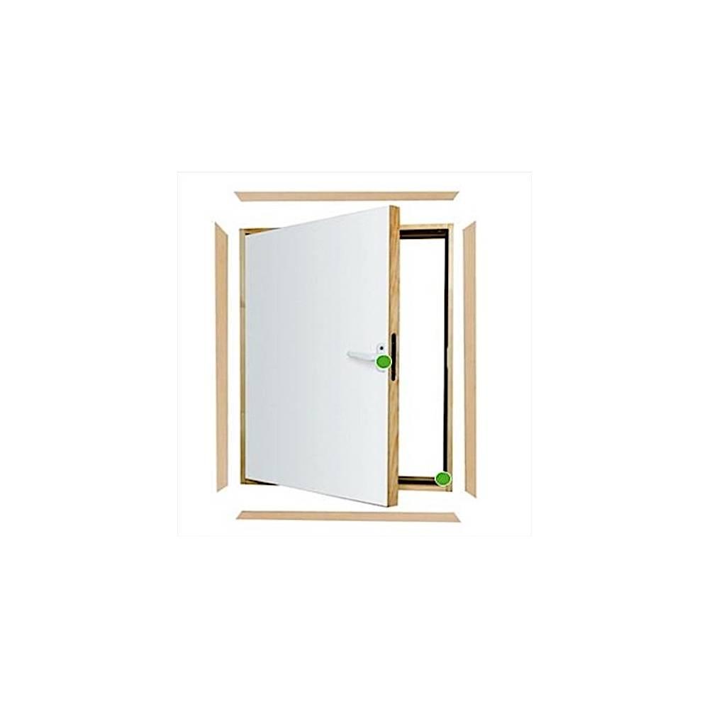 Fakro Dwk 55 X 80cm L Shaped Combination Loft Doors Sunlux