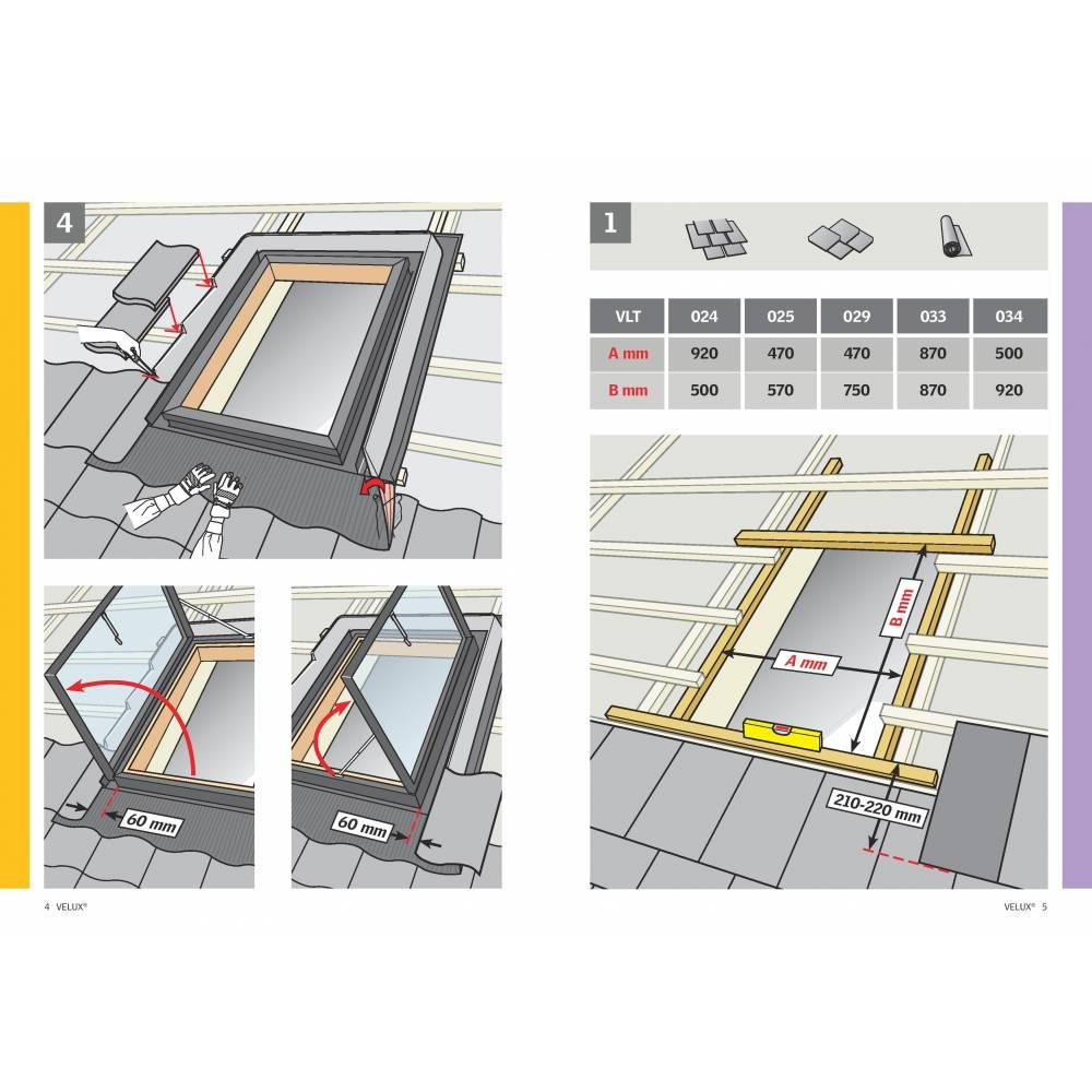 Velux Vlt 45cm X 73cm Side Hung Skylight Access Roof