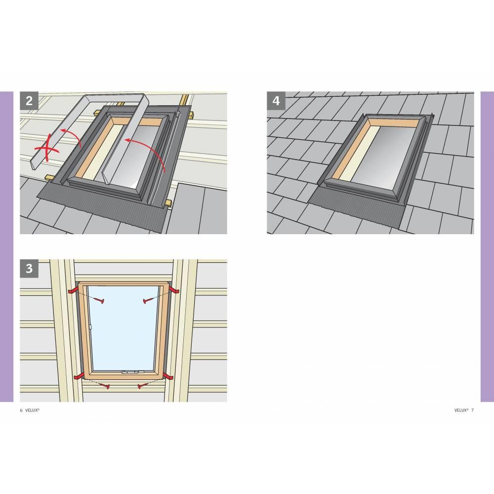 Velux Vlt 45cm x 73cm Side Hung Skylight Access Roof window