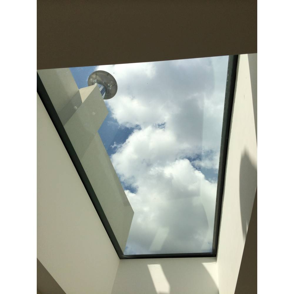 Sunlux 75cm x 75cm flat glass rooflight fixed double for Double glazed window glass