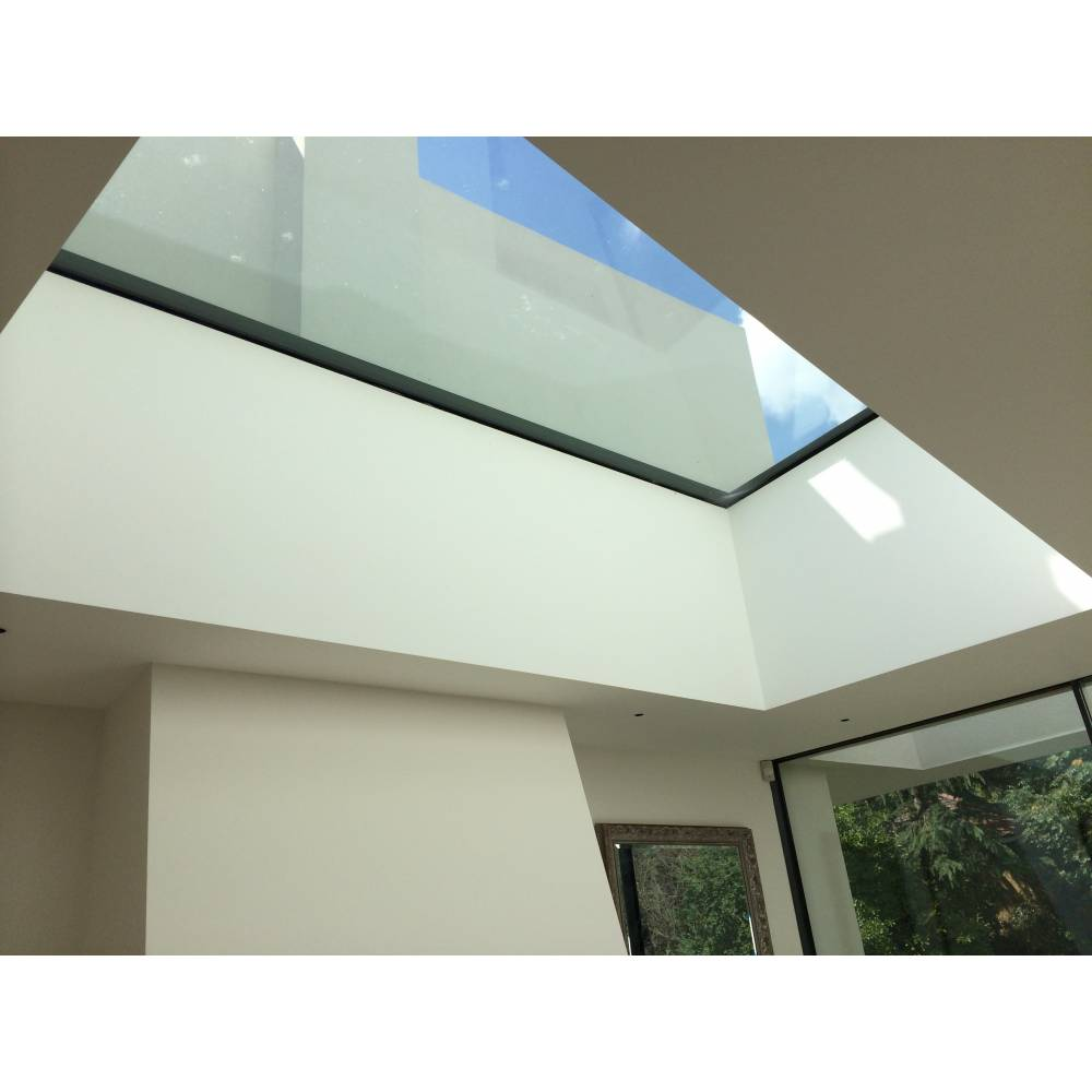 sunlux 100cm x 200cm flat glass rooflight fixed double glazed flat roof sunlux. Black Bedroom Furniture Sets. Home Design Ideas