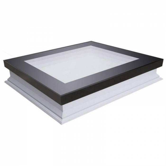 Fakro Dxf 60cm X 60cm Fixed Flat Roof Window Amp Kerb Triple