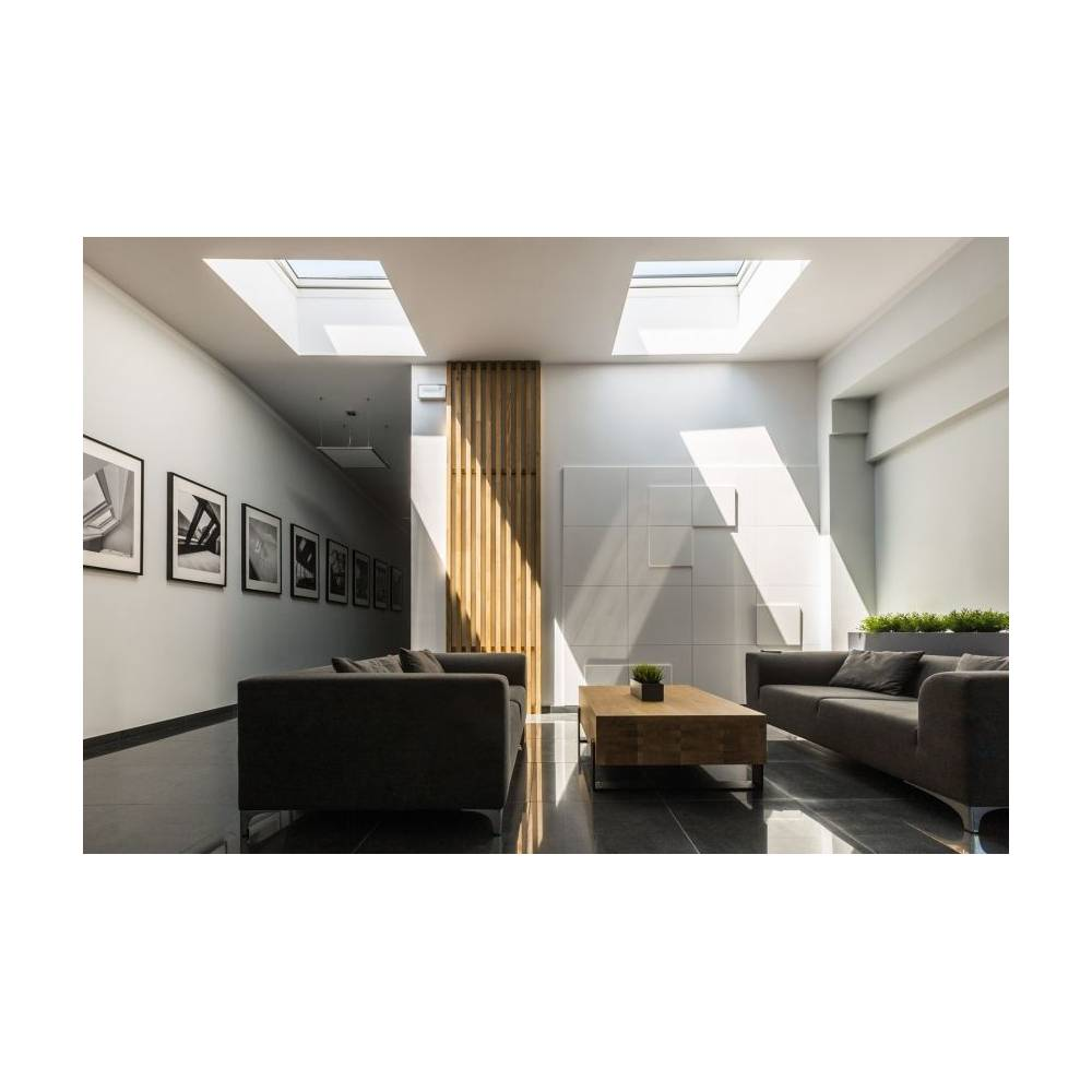 Fakro Dxf 90cm X 90cm Fixed Flat Roof Window Amp Kerb Triple