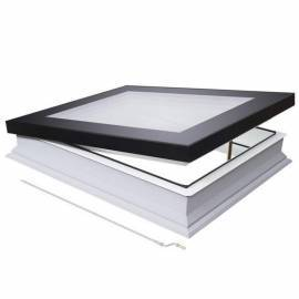 Fakro DMF 100cm x 100cm Manual Flat Roof Window & Kerb Triple Glazed