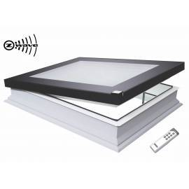 Fakro DEF 90cm x 90cm Electric Flat Roof Window & Kerb Triple Glazed
