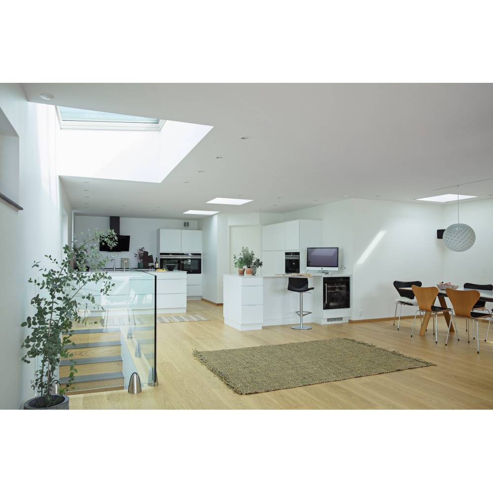 velux cfp 060090 fixed curved glass rooflight 60cm x 90cm cfp 0073qv isd 1093 sunlux. Black Bedroom Furniture Sets. Home Design Ideas