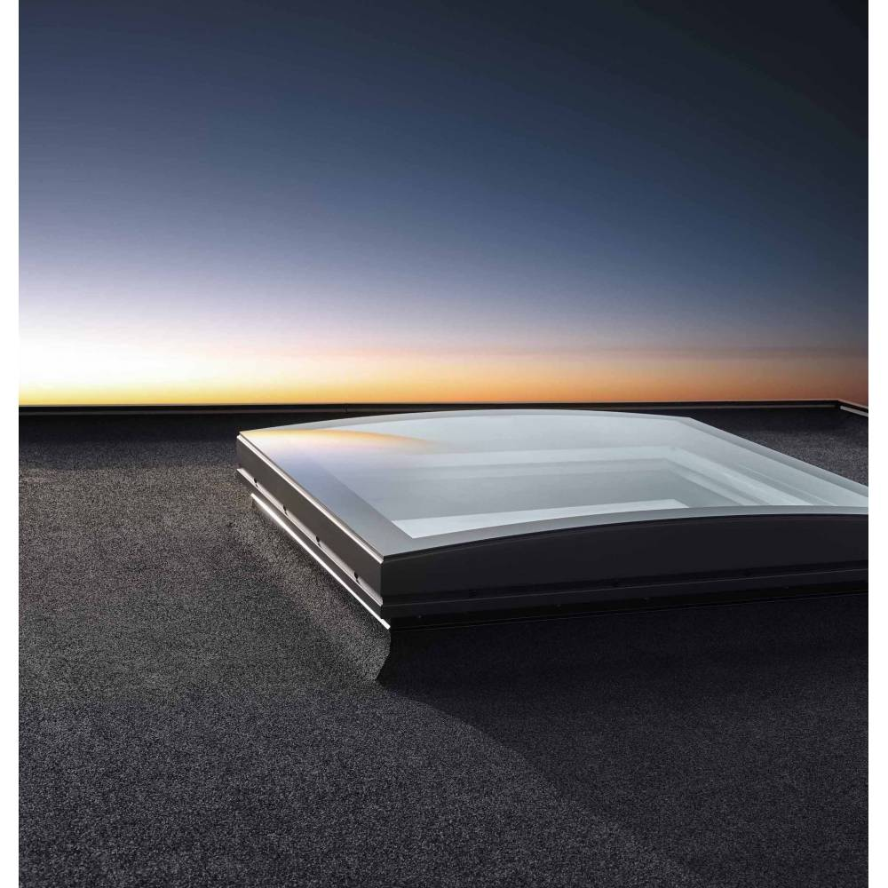 Velux Cfp 080080 Fixed Curved Glass Rooflight 80cm X 80cm