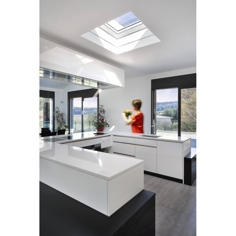 Velux Cfp 090090 Fixed Curved Glass Rooflight 90cm X 90cm