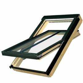 Fakro FTP-V/C P2 (V) kit 78cm x 140cm Pine Centre Pivot Conservation Roof Window