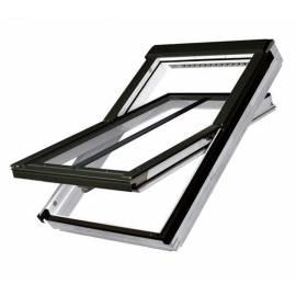 Fakro FTU-V/C P2 66cm x 98cm White Polyurethane Centre Pivot Conservation Roof Window