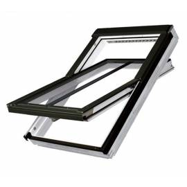 Fakro FTU-V/C P2 66cm x 118cm White Polyurethane Centre Pivot Conservation Roof Window