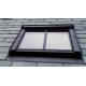 Fakro FTU-V/C P2 78cm x 160cm White Polyurethane Centre Pivot Conservation Roof Window
