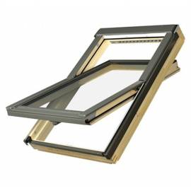FAKRO FTP-V U3 07 Pine 78 x 140cm Centre Pivot Roof Window