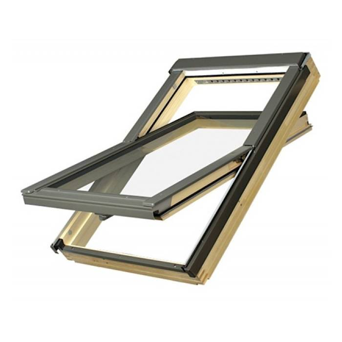 FAKRO FTP-V U3 01 Pine 55 x 78cm Centre Pivot Roof Window