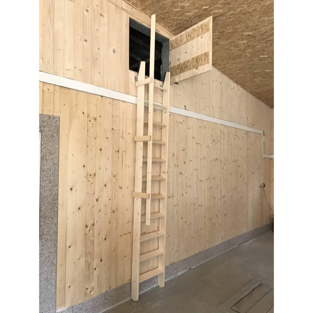 Attic 55 Wooden Folding Mezzanine Loft Staircase Sunlux