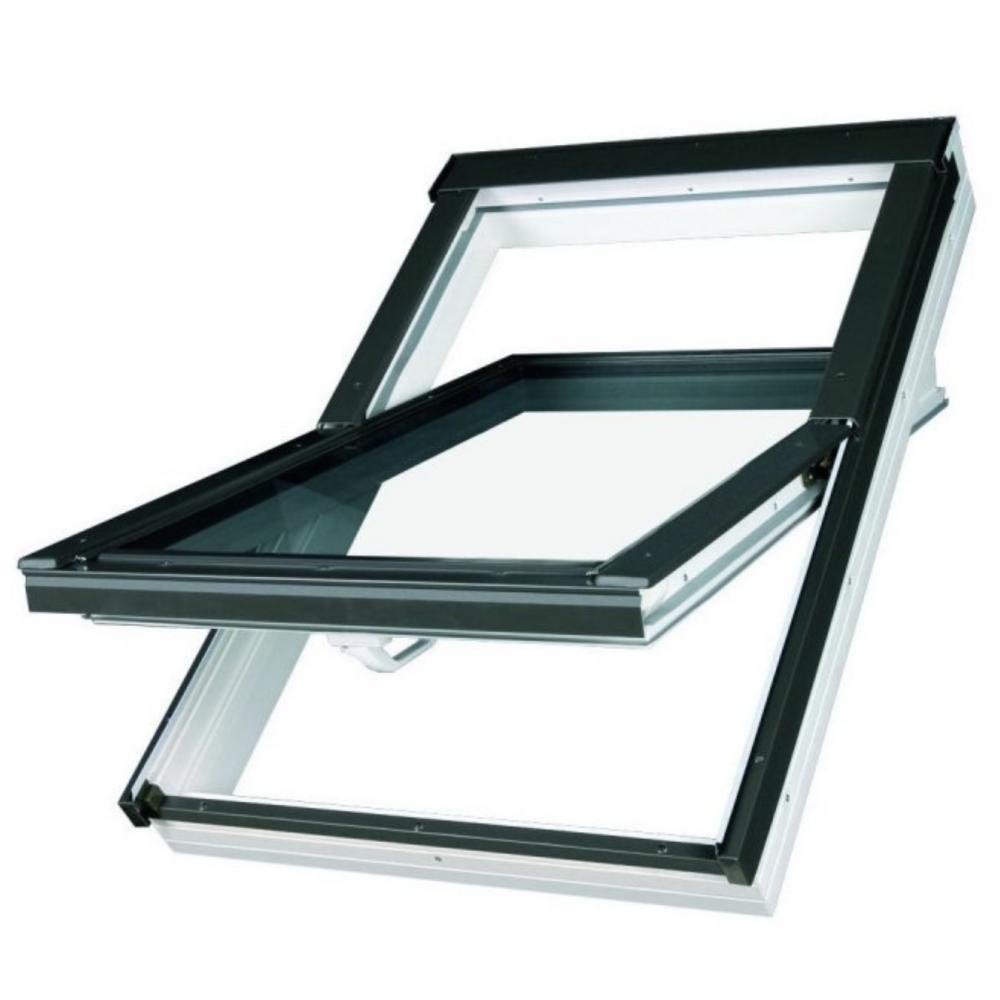 Optilight Pvc 78cm X 118cm Centre Pivot Roof Window Sunlux