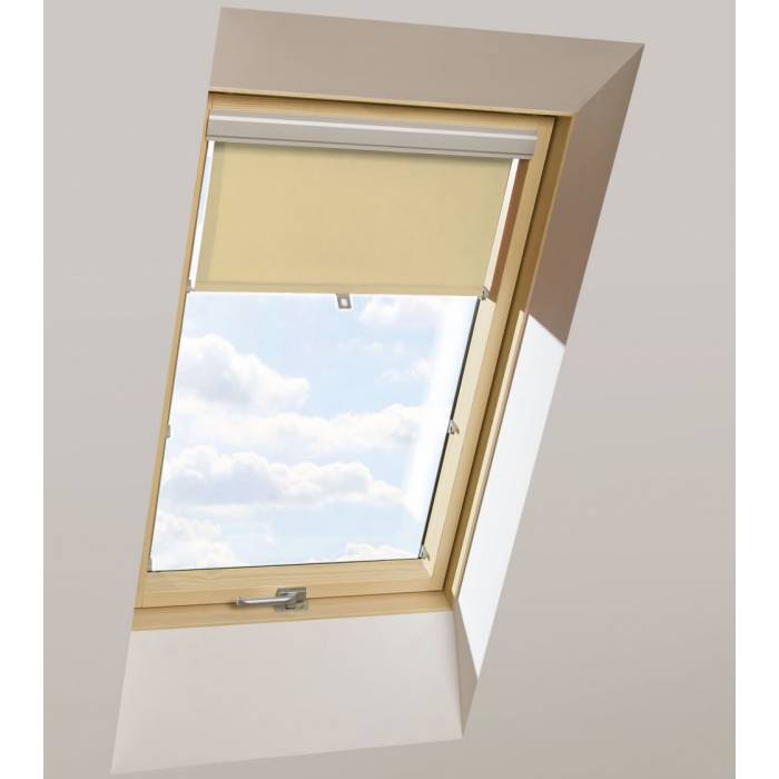 Roller Blinds ORF 55cm x 78cm for all OptiLight Windows Beige/Blackout