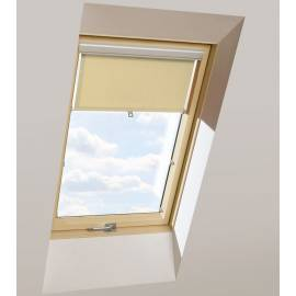 Roller Blinds AUB 114cm x 118cm Beige Transparent for OptiLight, Fakro, Velux Windows