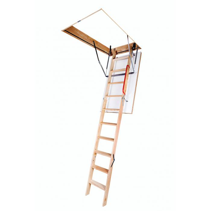 Optistep OLE  70cm X 111cm Wooden Loft Ladder & Hatch (H up to 280CM)