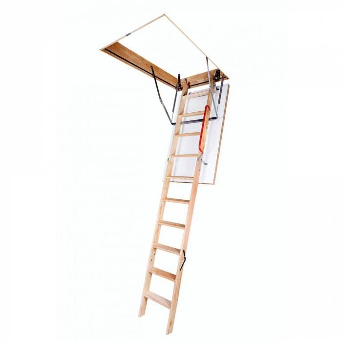 Optistep OLE 60cm X 120cm Wooden Loft Ladder & Hatch (H up to 280CM)
