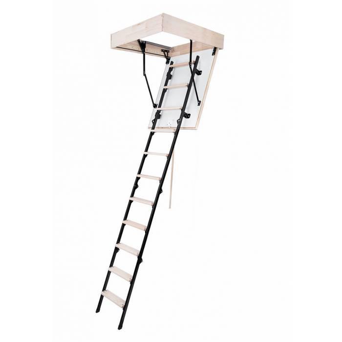 MINI 60cm X 80cm Wooden/Metal Folding Loft Ladder & Hatch