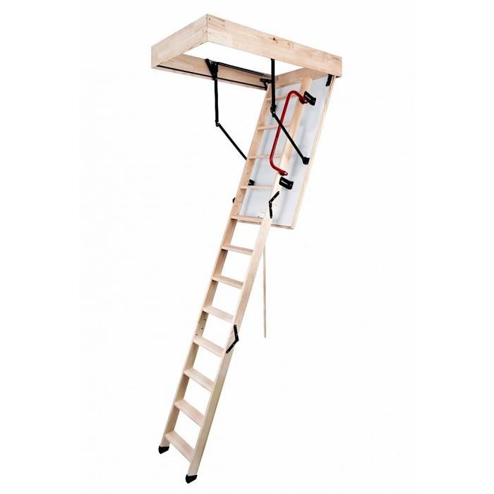 New Termo 55cm X 110cm Wooden Loft Ladder & Hatch (H up to 280CM)