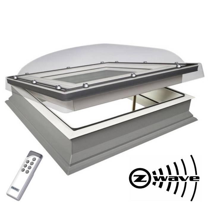 Fakro Dec 60cm X 60cm Electric Flat Roof Window Amp Kerb