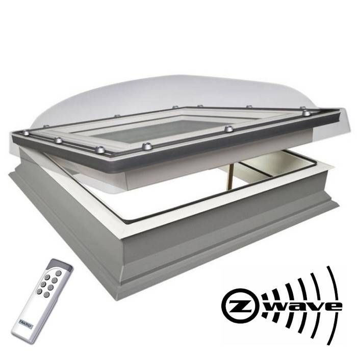 Fakro Dec 100cm X 150cm Electric Flat Roof Window Amp Kerb