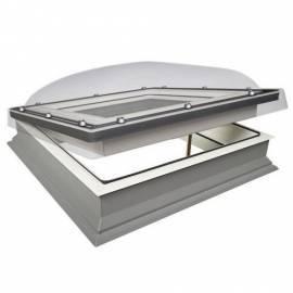 Fakro DMC 70cm x 70cm Manual Flat Roof Window & Kerb Double Glazed + Dome