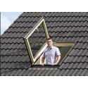 Timber escape roof windows