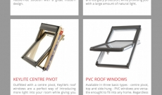 Different styles of roof windows & skylights